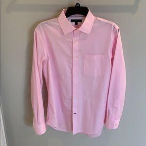 Banana Republic pink pinstripe dress shirt